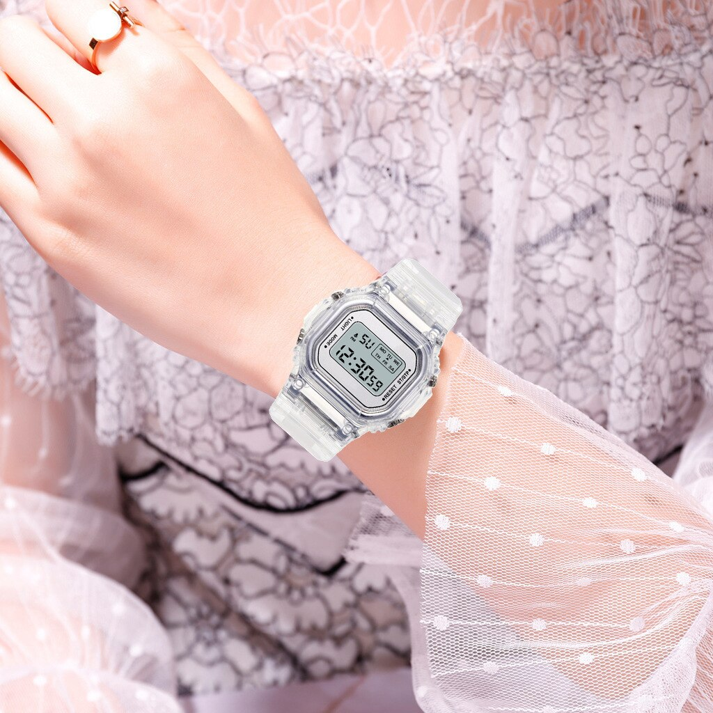 H93260aacc8e949ad8506a36af4110ae65 - New Fashion Transparent Electronic Watch LED Ladies Watch Sports Waterproof Electronic Watch Candy Multicolor Student Gift