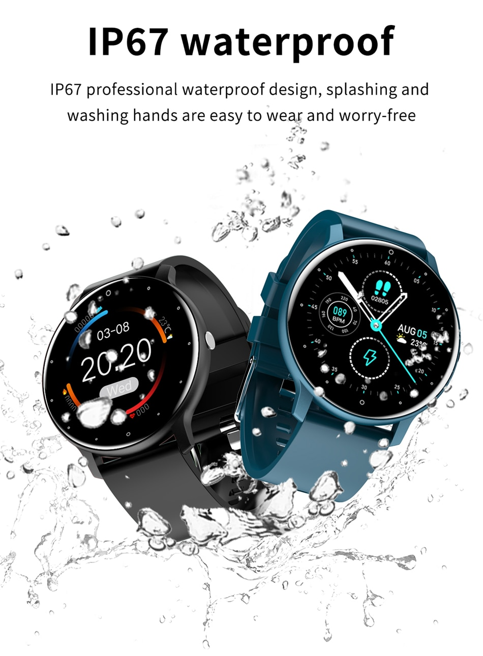 H93d6d934b0da4ae7abeac84ea5c9d104f - LIGE 2021 New Smart Watch Men Full Touch Screen Sport Fitness Watch IP67 Waterproof Bluetooth For Android ios smartwatch Men box