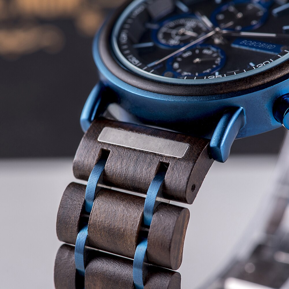 H940de504c8de4309923966008b64ad3cO - BOBOBIRD Customized Wooden Watch Engrave Your Personalized Logo On The Back Dial With Wood Box Boyfriend Gifts relogio masculino