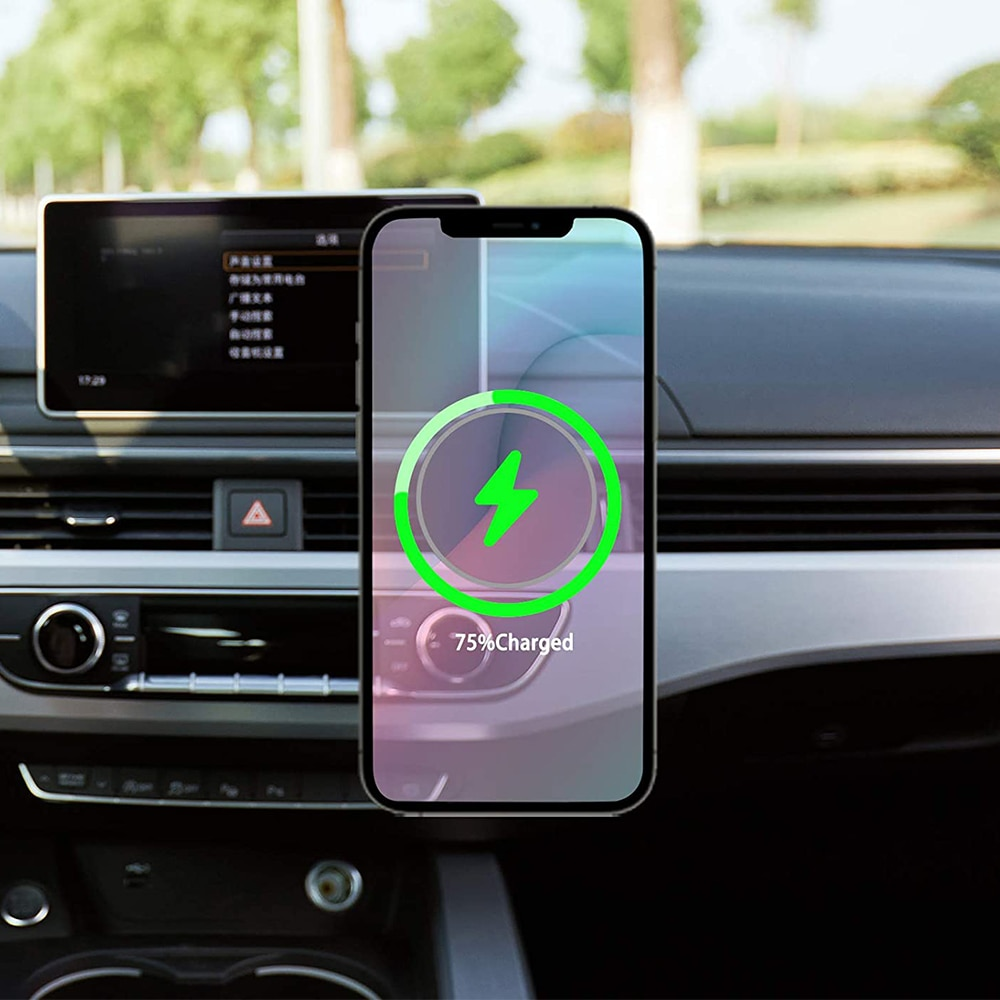 H946dc918dec94a5ba68d5fbc4cd12ec7x - Fivetech 15W Fast Car Wireless Charger For iPhone 12 Pro Max/12 Mini Strong Magnetic Car Charging Stand Car Phone Holder