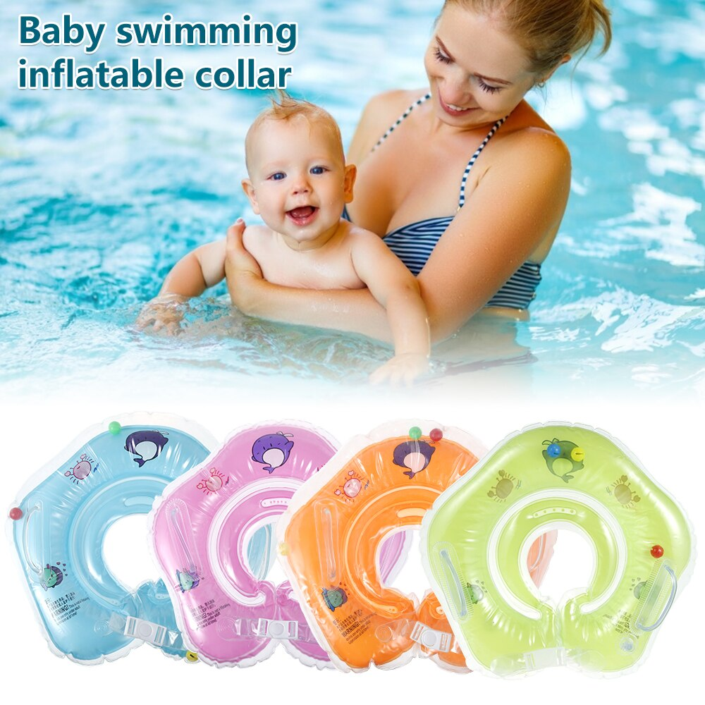 H94972ece5e1a42a9b0abbbf72380387cP - Swimming Baby Accessories Neck Ring Tube Safety Infant Float Circle for Bathing Inflatable Flamingo Inflatable Water