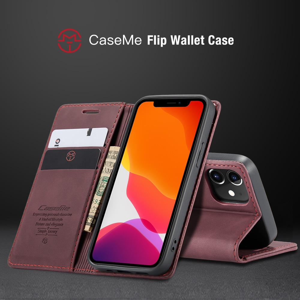 H94bbb87a2c864f9d95e1f1231ef77ea7H - Magnetic Leather Flip Case For iPhone 12 / Pro / Pro Max PU Leather Fitted Bumper Soft Retro Flip Case Book Wallet Cover