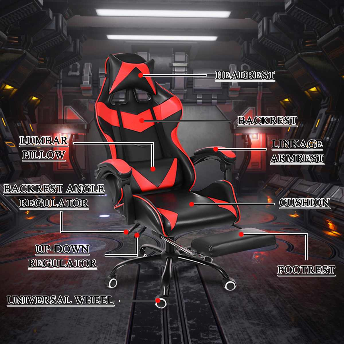 H9700161568604a3aad34752e40696d60w - WCG Gaming Chair Computer Armchair Office Chairs Home Swivel Massage Chair Lifting Adjustable Desk Chair Lying Recliner Chair