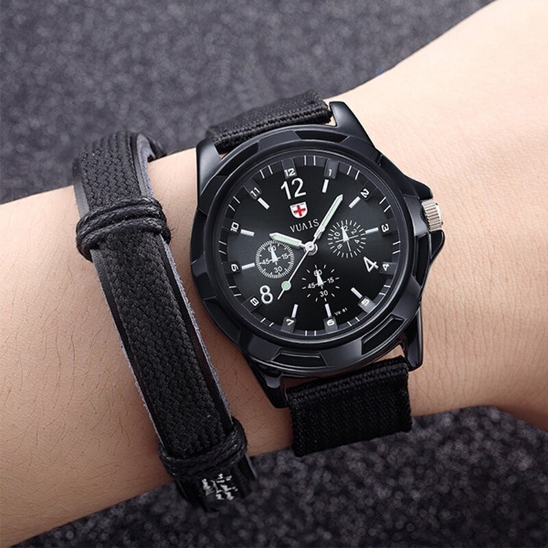 H995d9a99bea14d598df084f0f8cc6315r - Men Army Watch Nylon Military Male Quartz Watches Fabric Canvas Strap Casual Cool Men's Sport Round Dial Relogios Wristwatch