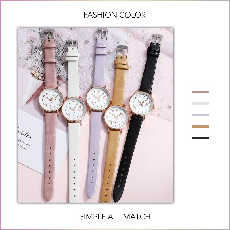 H99fc9df62dde43daa6ec65f8f6f46675D - 2021 New Watch Women Fashion Casual Leather Belt Watches Simple Ladies' Small Dial Quartz Clock Dress Female Watch Reloj mujer