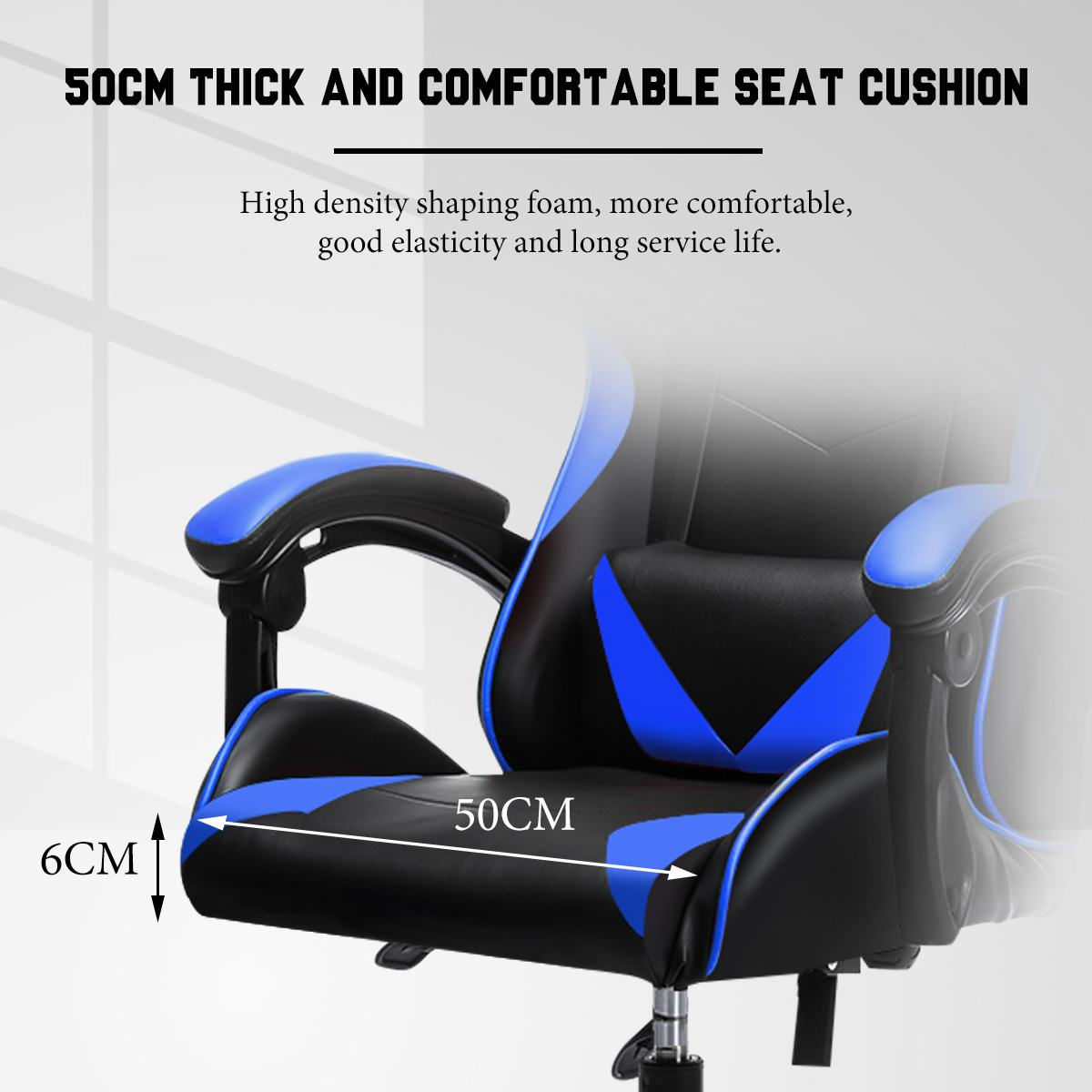 H9b0692e9071d4302b19da4aa9aa90c30G - Office Gaming Chair with Footrest Ergonomic Office Chairs Adjustable Swivel Leather High Back Computer Desk Chair with Headrest