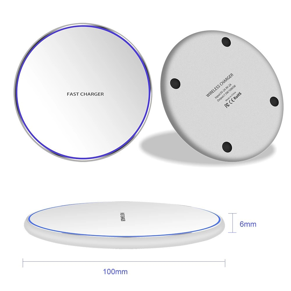 H9be5a16561444fdea0b7e4916c3179a4v - Wireless Phone Charger 10W 15W Ultra Thin Desktop Tabletop Battery Quick Charge Fast Charger for Smartphone Aluminum Alloy
