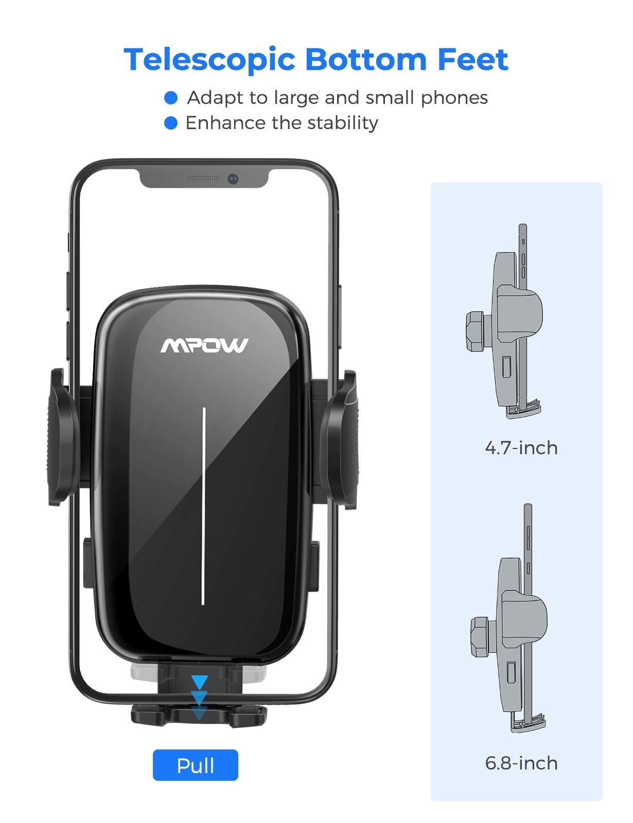H9c91df387a3541239ef555738a41d675u - MPOW CA159 Upgraded Long Gooseneck Phone Holder for Car Windshield Car Phone Mount for iPhone SE 11 Pro Galaxy Note and More