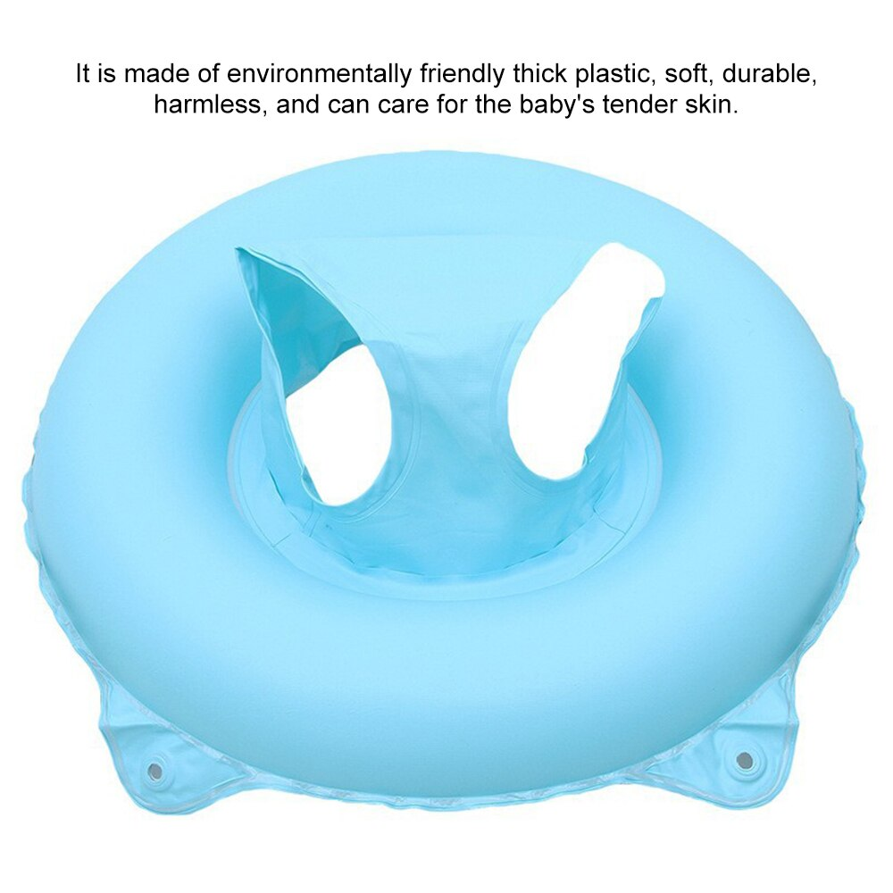 H9d3875a264a94f5ea1d7c65fa916feeaT - Lnflatable Child Seat Swimming Ring Dual-Handle Safety Baby Seat Floating Water Toy Children Swimming Accessories