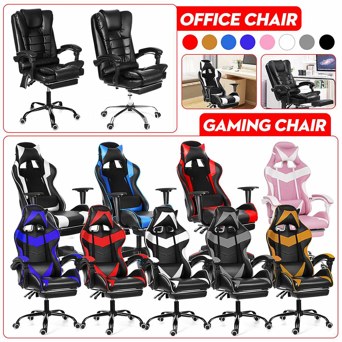 H9e4cc495f2a94983909c3ddd44fccc1d3 - WCG Gaming Chair Computer Armchair Office Chairs Home Swivel Massage Chair Lifting Adjustable Desk Chair Lying Recliner Chair