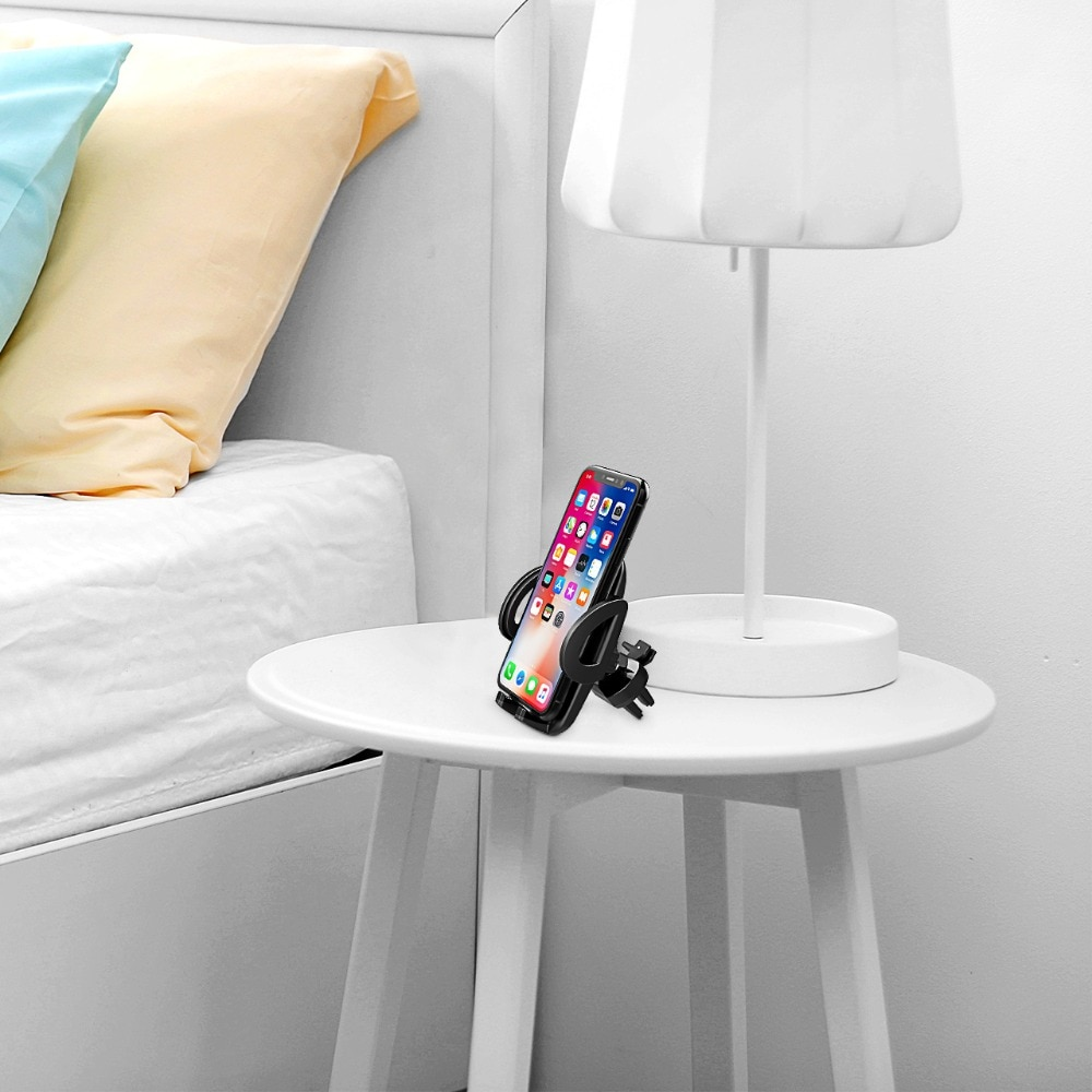 H9e70b63e05384f3f826748e6fdfd2531Q - Mpow Air Vent Car Mount Holder Universal Cell Phone Cradle 3-level Adjustable Clamp Mobile Phone Stand Cradle For iPhone X/8/7/6