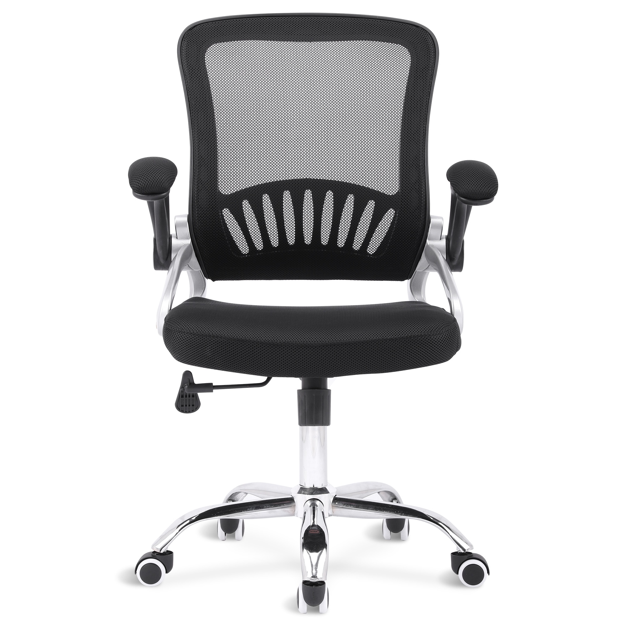H9eed153c96924d329eb73e7b5ef257d4m - Sigtua Swivel Office Chair Height-adjustable Desk Chair Breathable PC Chair Comfortable Ergonomic Executive Computer Chair Black