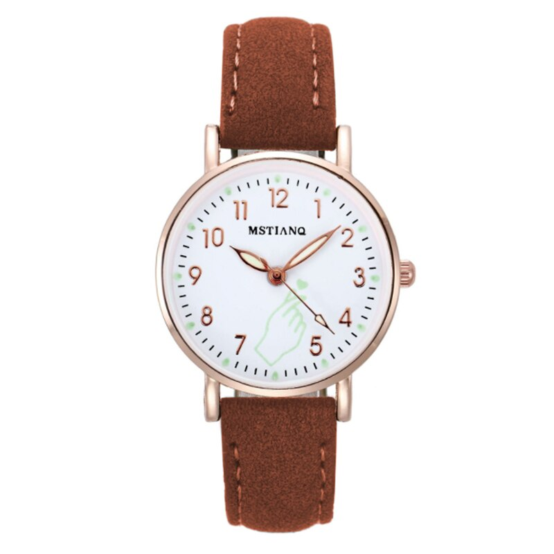 H9f07382d4a0c415c94c467eae9cf21ddU - 2021 New Watch Women Fashion Casual Leather Belt Watches Simple Ladies' Small Dial Quartz Clock Dress Female Watch Reloj mujer
