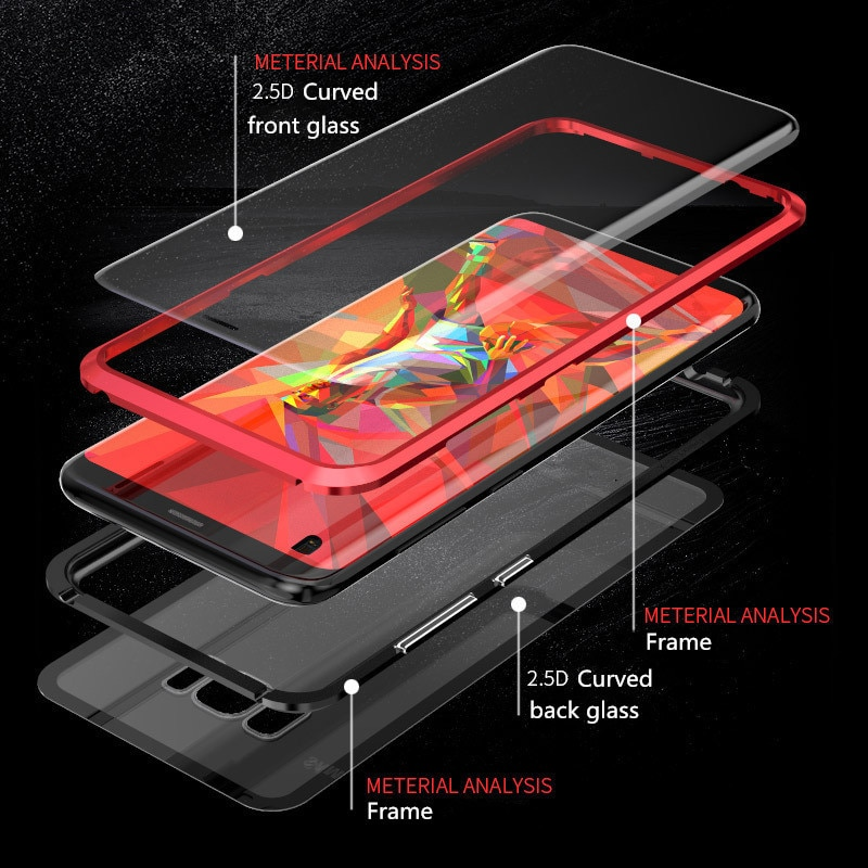 HTB123YEUxjaK1RjSZKzq6xVwXXad - Magnetic Phone Case for Samsung Galaxy S20 Ultra 5G S8 S9 S10 S20 Plus Note 20 Screen Protector Tempered Glass Aluminum Case