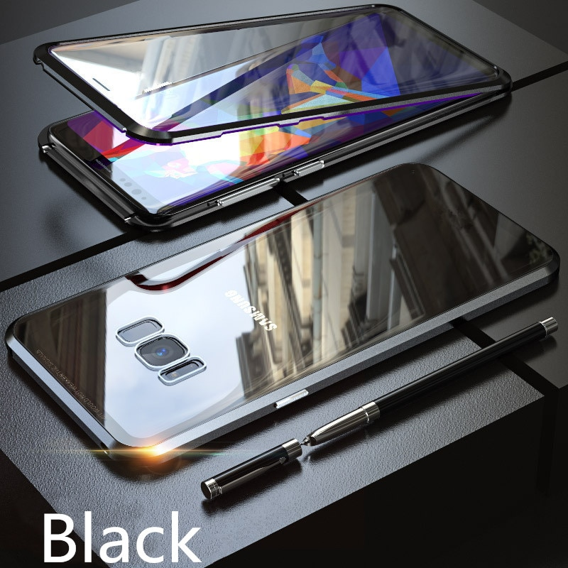HTB1ITroUsfpK1RjSZFOq6y6nFXaW - Magnetic Phone Case for Samsung Galaxy S20 Ultra 5G S8 S9 S10 S20 Plus Note 20 Screen Protector Tempered Glass Aluminum Case