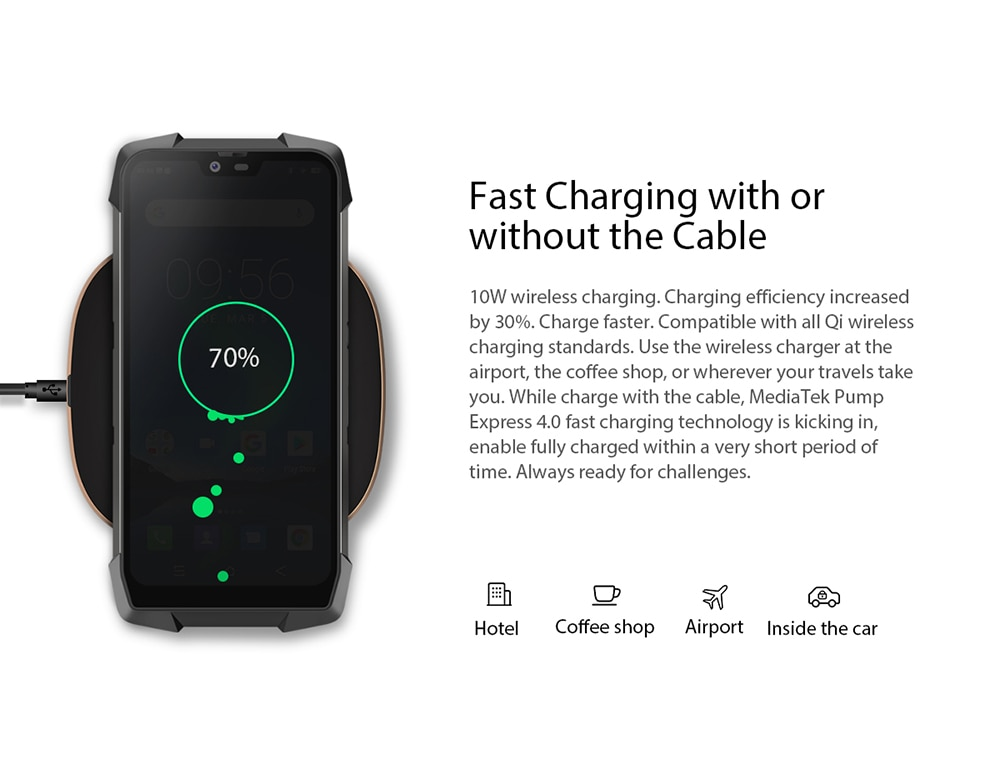 HTB1MRe cEKF3KVjSZFEq6xExFXaR - Blackview BV9700 Pro IP68 Rugged Mobile Phone Helio P70 Octa Core 6GB 128GB Android 9.0 16MP 8MP Night Vision Camera Smartphone