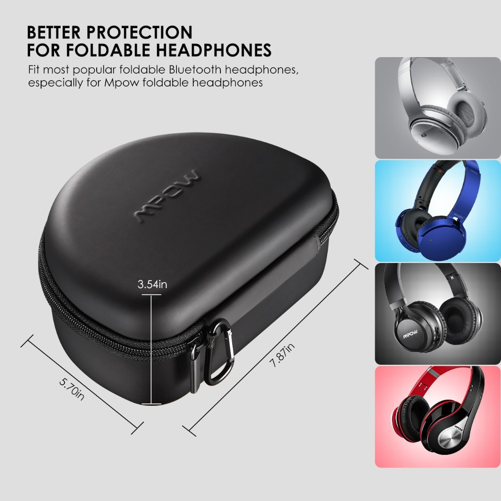 HTB1ne4baYY1gK0jSZTEq6xDQVXab - Original Mpow Headphone Carrying Case Universal Outdoor Storage Protective Bag for Headsets Over-ear Foldable Headphones