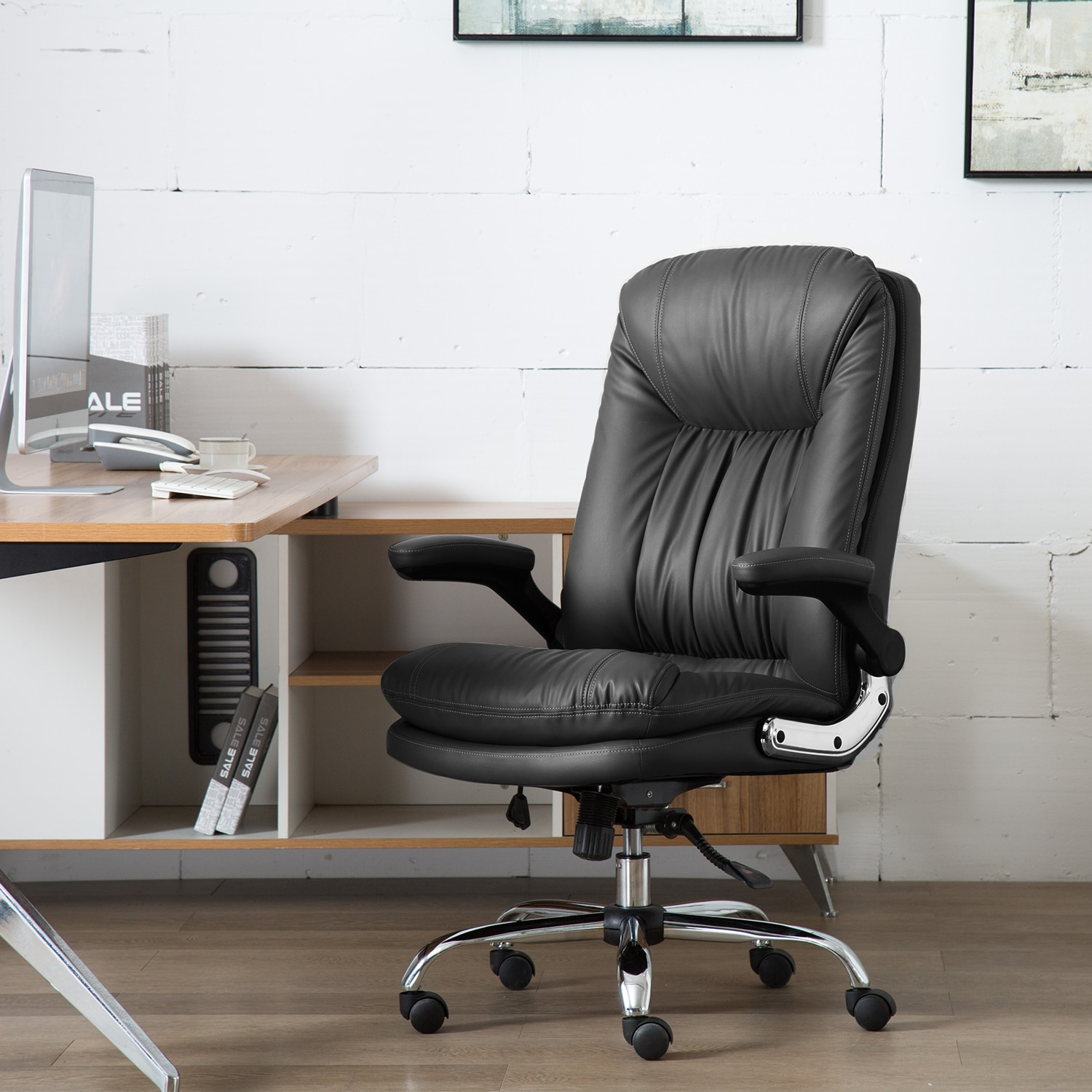 Ha1d1c47f3f0d46578a38d46a38b2dbcbr - Yamasoro Ergonomic Office chair Faux PU Leather Chair Executive Computer Desk Chairs Managerial Executive Chairs