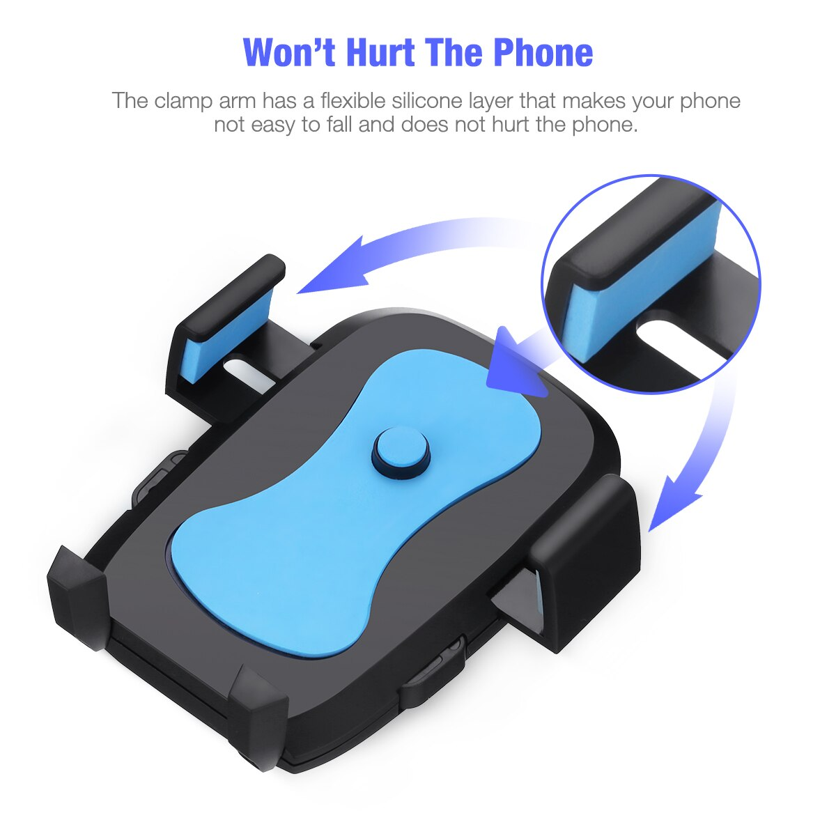Ha3255d043d6d4ae193d360ec33aebff7m - 360 Degree Rotatable Car Phone Holder For 2.4 to 3.4inch Phone Mount Stand in Car Bracket For Poco x3 pro iPhone Xiaomi Samsung
