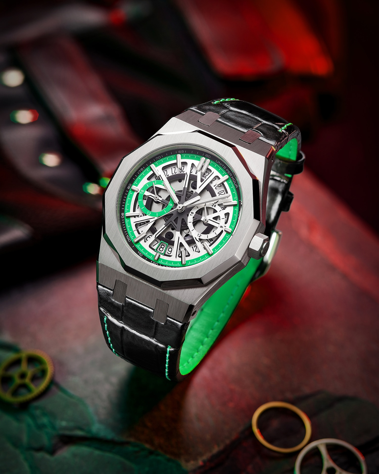 Ha354db48125948a3a808527a23be56e82 - DIDUN NewTop Brand Luxury Watches Men Steel Quartz Watch Clock Color Dial Mens Watches Leather Wristwatch JAPAN VD31 Movement