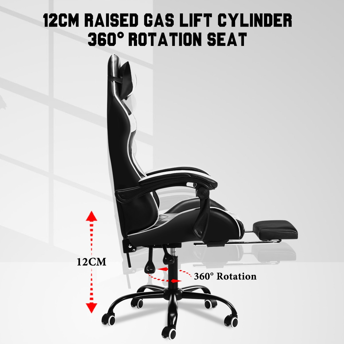Ha3e79c29597042c294cbb4bbddd4126cO - Leather Office Gaming Chair Home Internet Cafe Racing Chair WCG Gaming Ergonomic Computer Chair Swivel Lifting Lying Gamer Chair