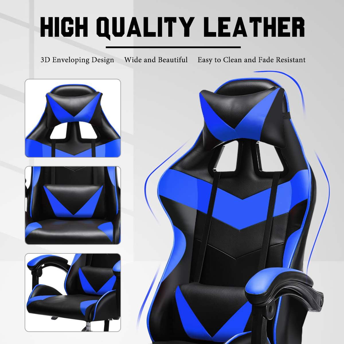 Ha3ef16ea29954c45b6fa503e7bbc90c3C - Office Gaming Chair with Footrest Ergonomic Office Chairs Adjustable Swivel Leather High Back Computer Desk Chair with Headrest