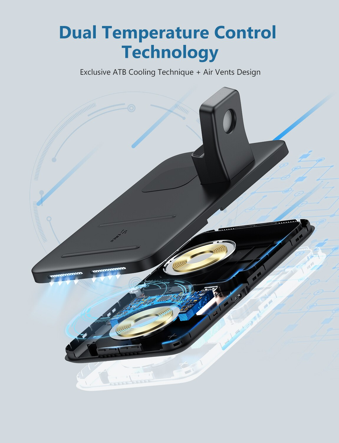 Ha47a1bde1fcc44f982fe4a005bdfa1c56 - Seneo PA202 Wireless Charger 3 in 1 for iPhone 12 11 Wireless Charging Pad for AirPods Pro 2 Charging Dock for iWatch 5 4 3 2