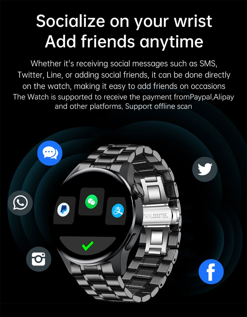 Ha537ea765a6341d28b80eef57142030eA - LIGE New Bluetooth Call Smart watch Men Full touch Screen Sports fitness watch Bluetooth is Suitable For Android ios Smart watch