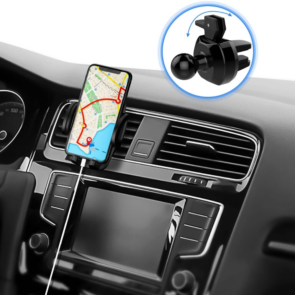 Ha6989f6e97a344aaa64f51fb213aa5f65 - Mpow Air Vent Car Mount Holder Universal Cell Phone Cradle 3-level Adjustable Clamp Mobile Phone Stand Cradle For iPhone X/8/7/6