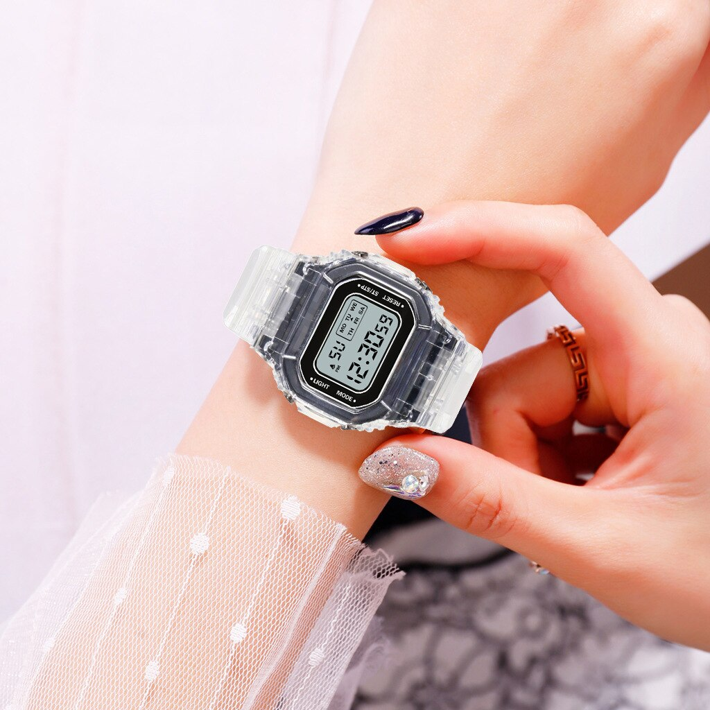 Ha6d9c9a2fa8d4477812a6fcc7f4bfd01q - New Fashion Transparent Electronic Watch LED Ladies Watch Sports Waterproof Electronic Watch Candy Multicolor Student Gift
