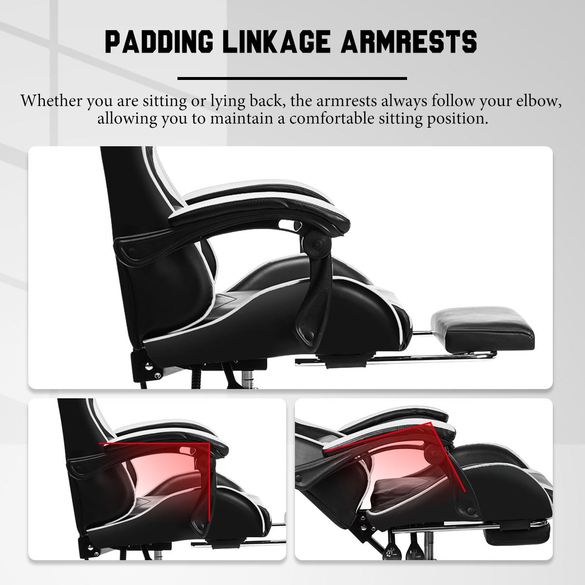 Ha8978da33772474c940d694ee8ae4137k - Leather Office Gaming Chair Home Internet Cafe Racing Chair WCG Gaming Ergonomic Computer Chair Swivel Lifting Lying Gamer Chair