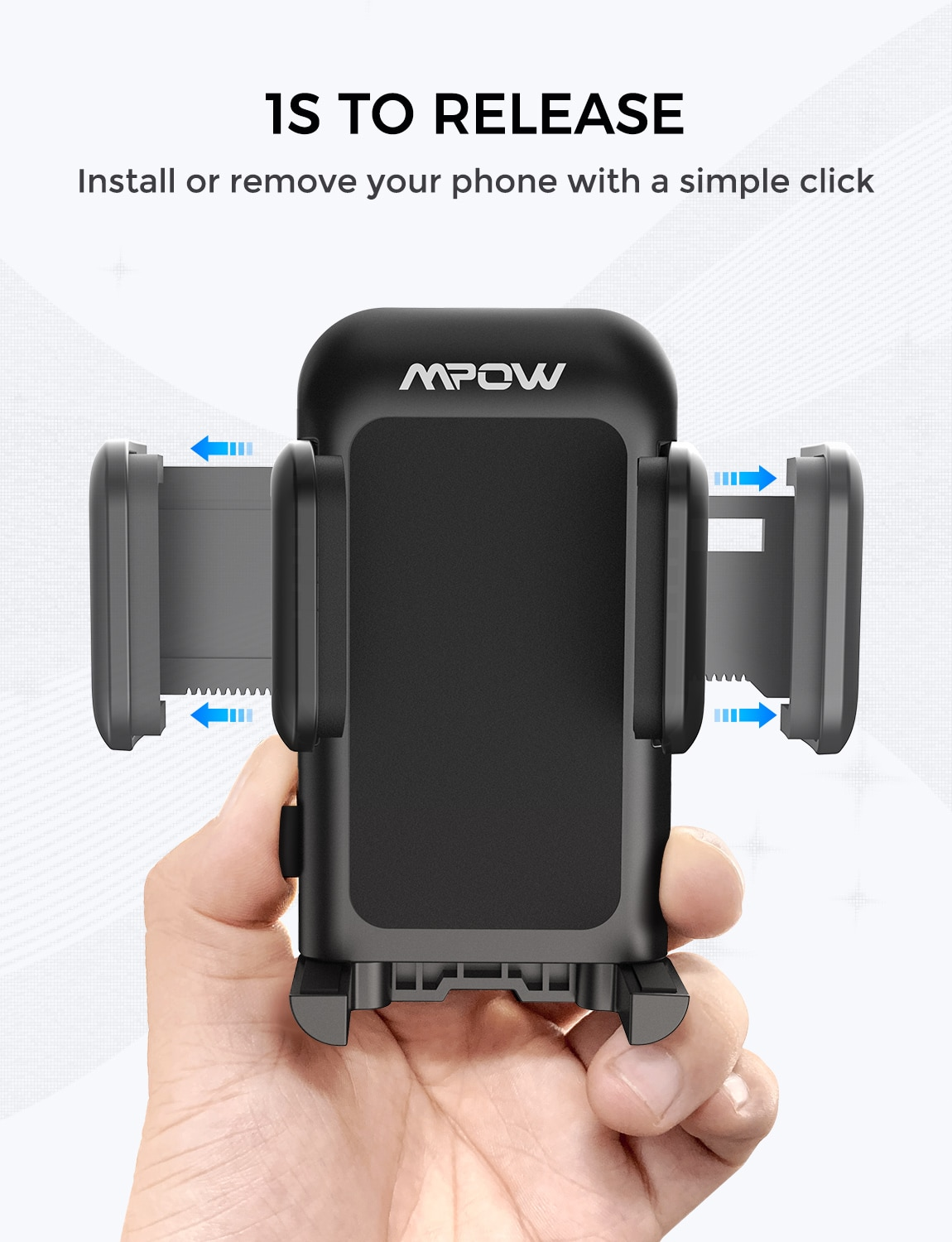 Habb4ea3e59004b958a4b7e67a8518050d - Mpow MCM3 CD Slot Car Phone Holder Car Mount Holder Stand 360 Rotation Mobile Phone Holder Stand for iphone 12 XS Samsung Huawei