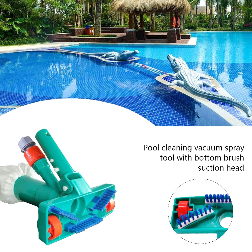 Hac839993af1f4931a450f923791f8ee1P - Hot ! Mini Jet Swimming Pool Vacuum Cleaner Tools set Objects Suction Fountain Pond Head Vacuum Brush Cleaner Cleaning Tools