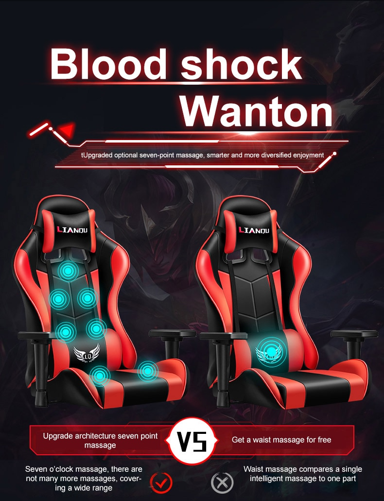 Haceb7f5fd83e41fa9d071ee7d74c8a6eI - Computer Gaming Chair Safe And Durable Office Chair Ergonomic Leather Boss Chair Wcg Game Rotating Lift Chair High Back Chair