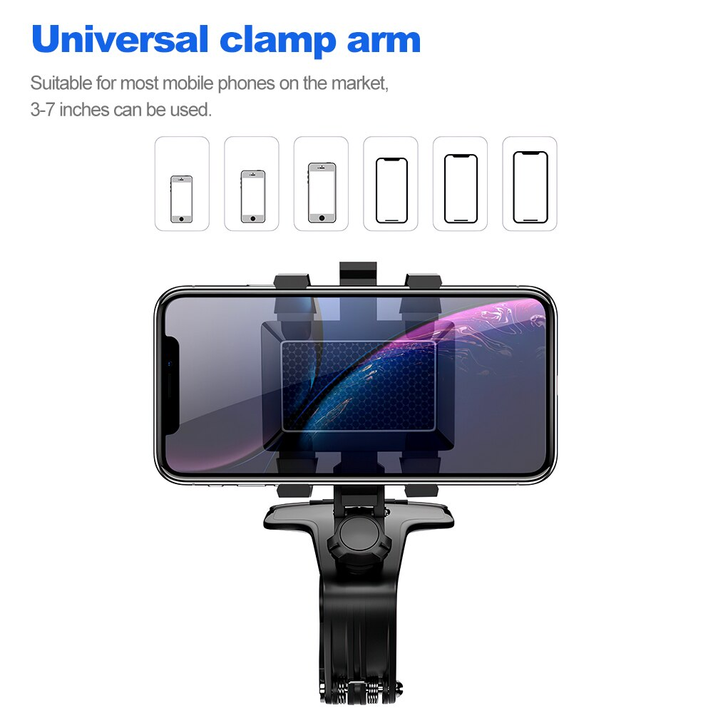 Hacf96dd705524ed49a7c10c938cdc908G - TRAVOR Phone Holder Adjustable Stand Car Phone Holder Clip Waterproof Bracket Bicycle Handlebar Mobile Support Mount Phone Stand