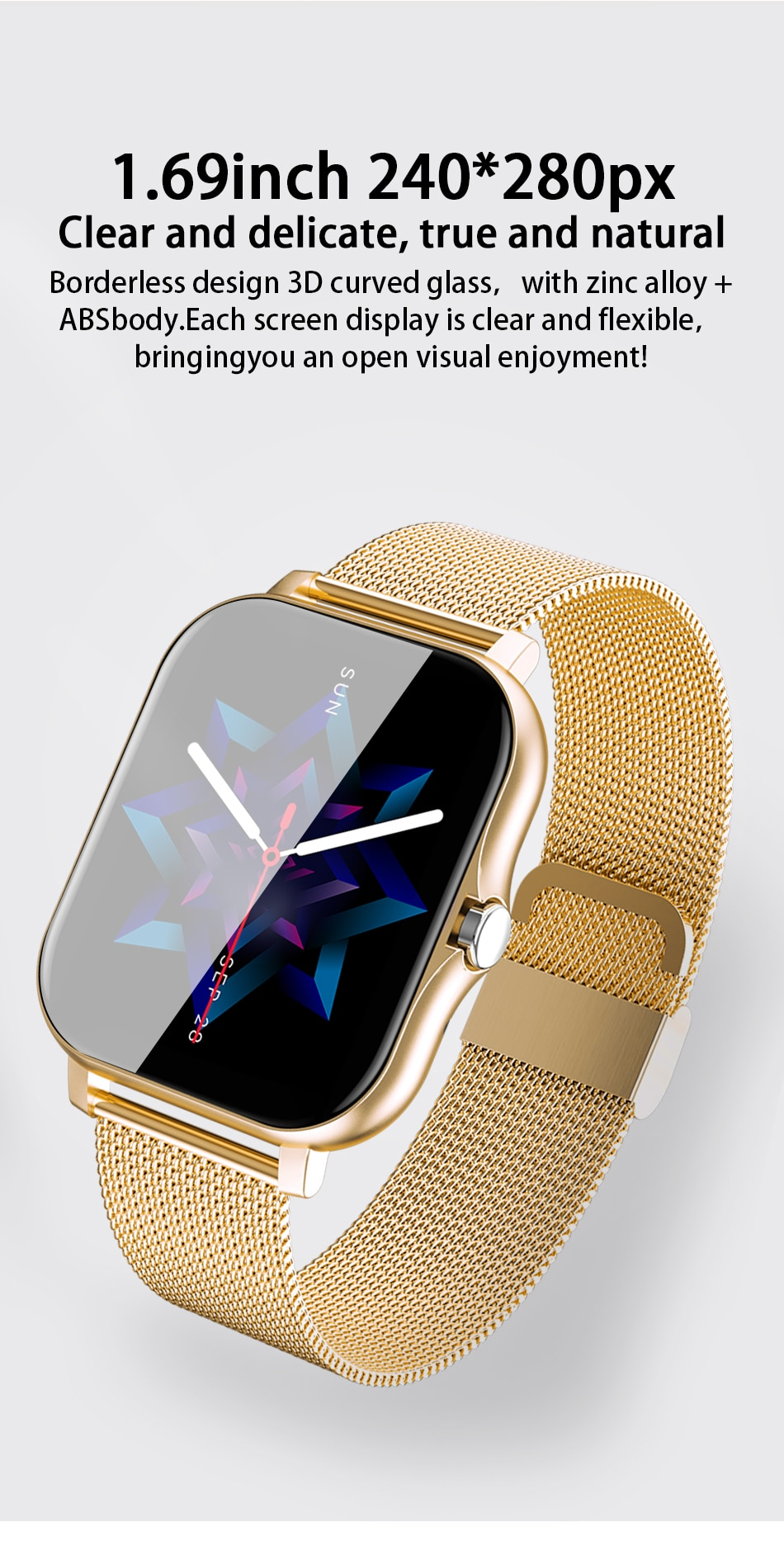 Hae69cbce1e254b4aab7abaa7b1f1d76fd - LIGE 2021 New Women Smart Watch 1.69 Color Screen Full Touch Fitness Tracker Bluetooth Call Smart Clock Ladies Smartwatch Men