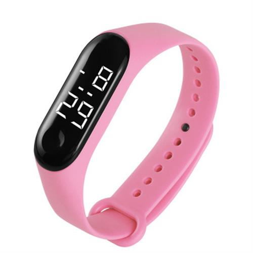 Hafaef56111094f92a6a611a21a59b208E - M3 Led Wristwatch Fitness Color Screen Smart Sport Bracelet Activity Running Tracker Heart Rate for Men Women Silicone Watch