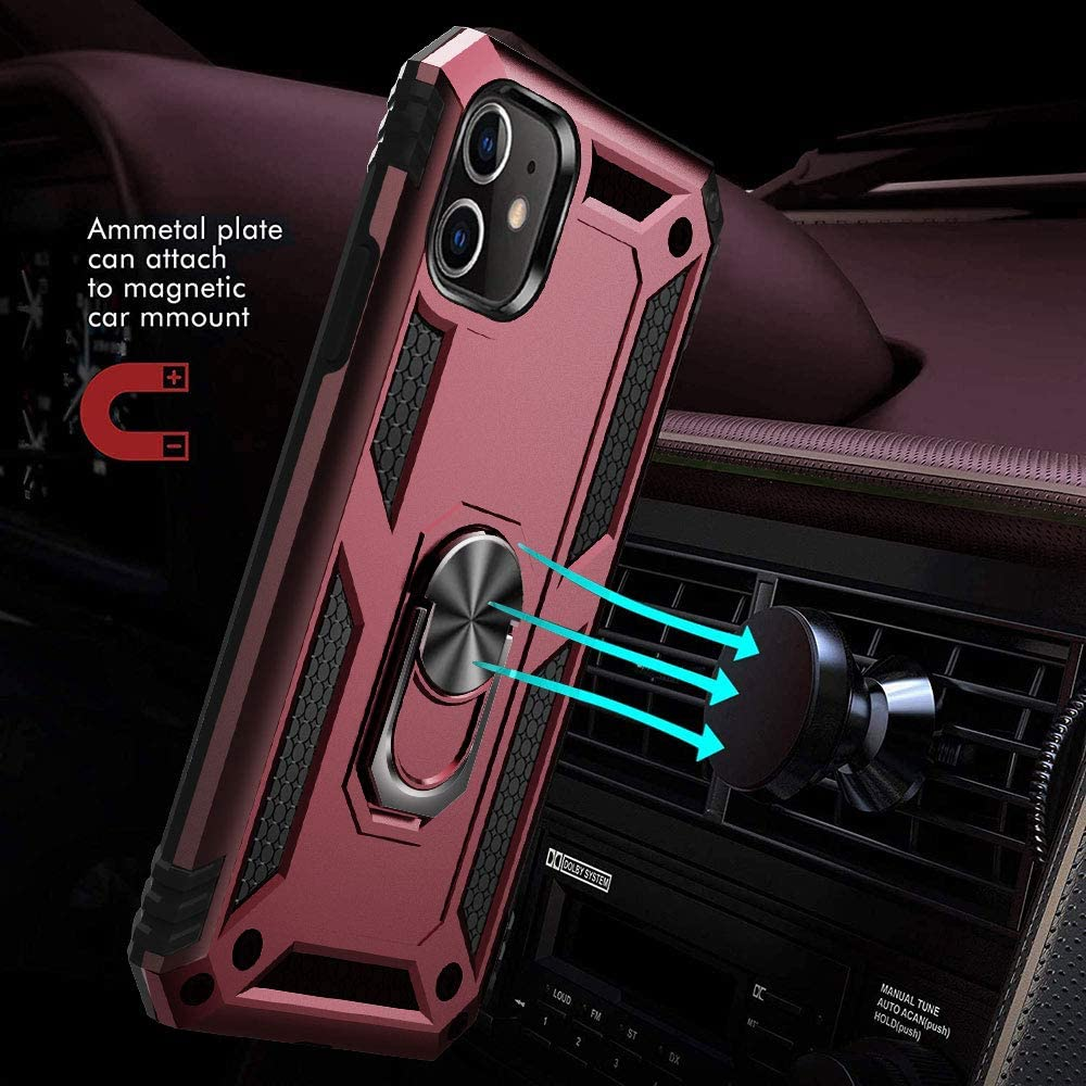 Hb156cf4942424b0e88935dde8e1aaa29k - for iPhone X XS XR 11 Pro 7 8 Max Case,Military Grade Armor 15ft. Drop Tested Protective Ring Magnetic Car Mount Kickstand Case