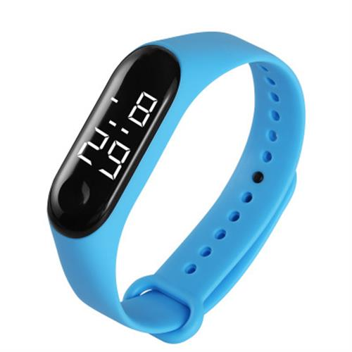 Hb19f522dc0974f37b594349f159ad52b7 - M3 Led Wristwatch Fitness Color Screen Smart Sport Bracelet Activity Running Tracker Heart Rate for Men Women Silicone Watch