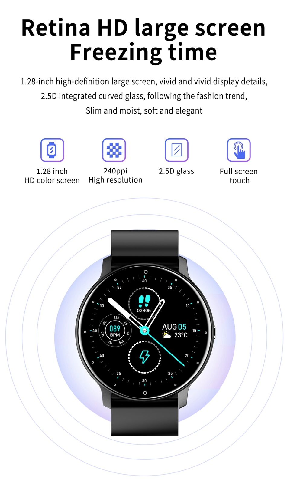 Hb1c3495bcf6449d6b7974dfbb8e9a9dc1 - LIGE 2021 New Smart Watch Men Full Touch Screen Sport Fitness Watch IP67 Waterproof Bluetooth For Android ios smartwatch Men box