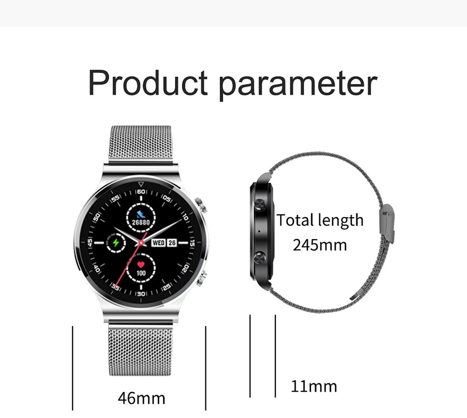 Hb1d3f4fefbd6444c950721d3ad71726c2 - LIGE New Smart watch Men Heart rate Blood pressure Full touch screen sports Fitness watch Bluetooth for Android iOS smart watch