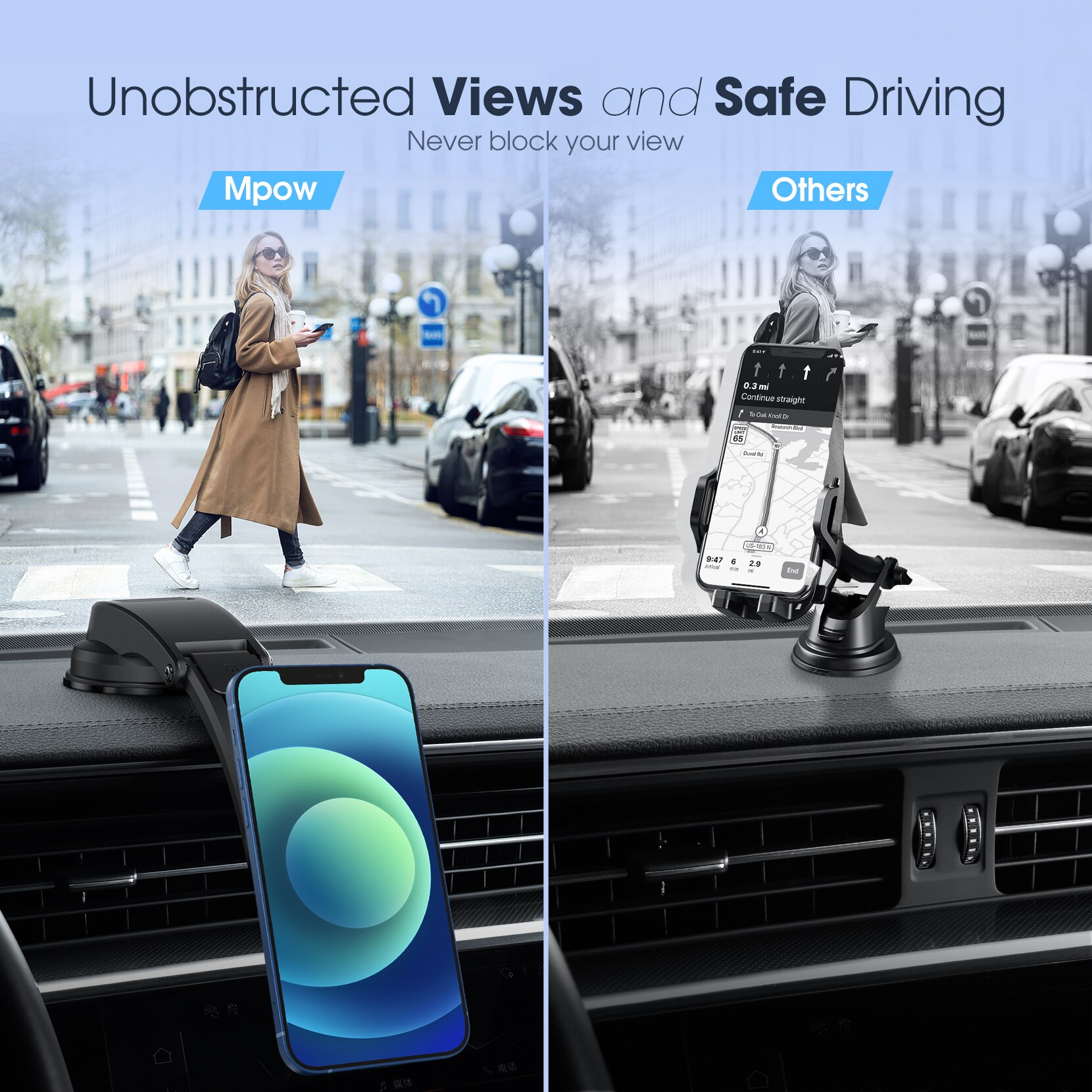 Hb2c0206b755b4409a22cff50aeda31b0a - MPOW CA171 Magnetic Phone Car Mount Dashboard Car Phone Mount Holder Strong Magnet Phone Mount for Car Compatible with iPhone