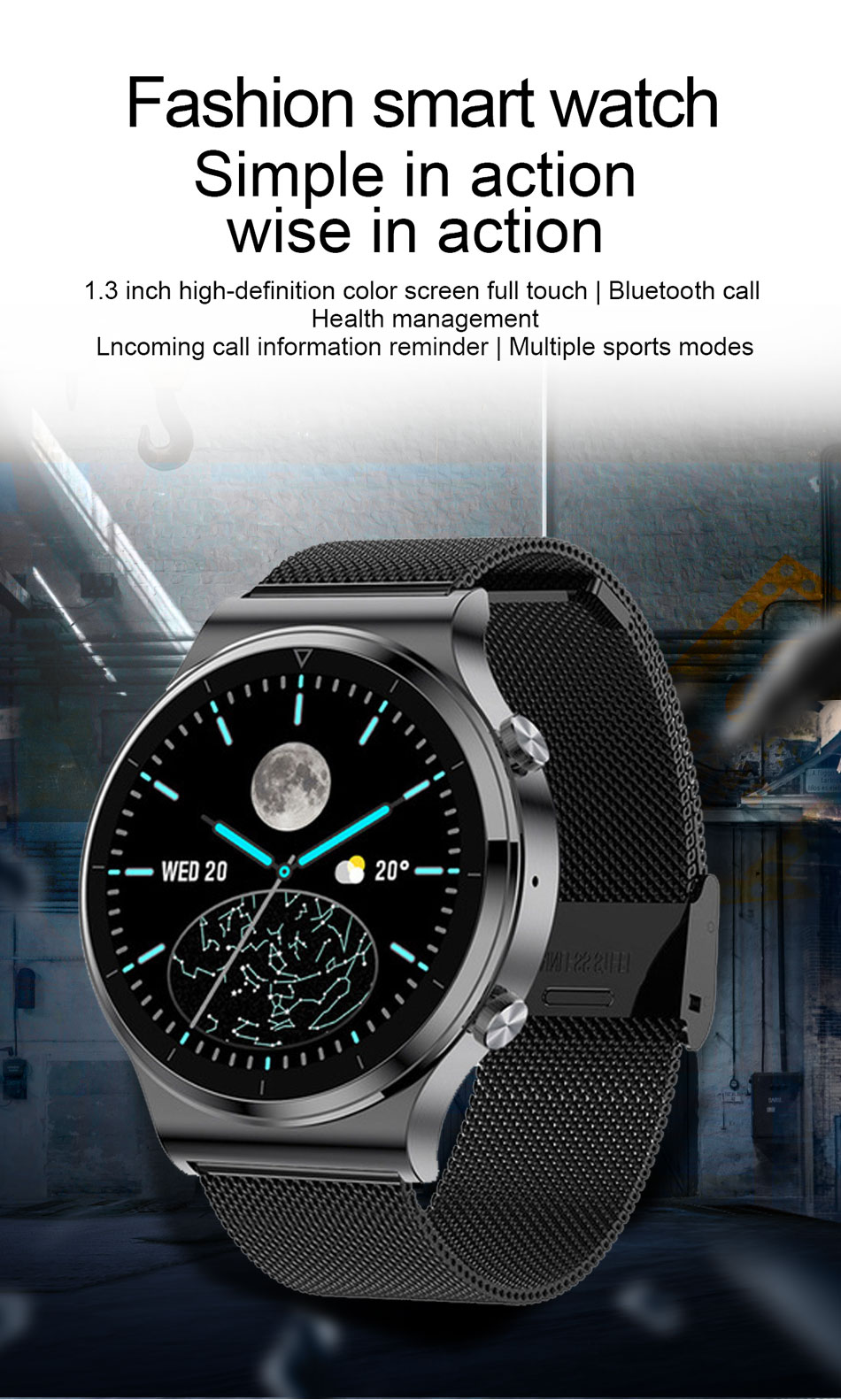 Hb326f06df11a48ffa1926baead7497abu - LIGE New Smart watch Men Heart rate Blood pressure Full touch screen sports Fitness watch Bluetooth for Android iOS smart watch