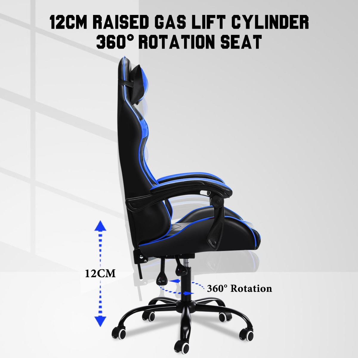 Hb45a9e2ed1b54b578b4f619d2d4130d2D - Office Gaming Chair with Footrest Ergonomic Office Chairs Adjustable Swivel Leather High Back Computer Desk Chair with Headrest
