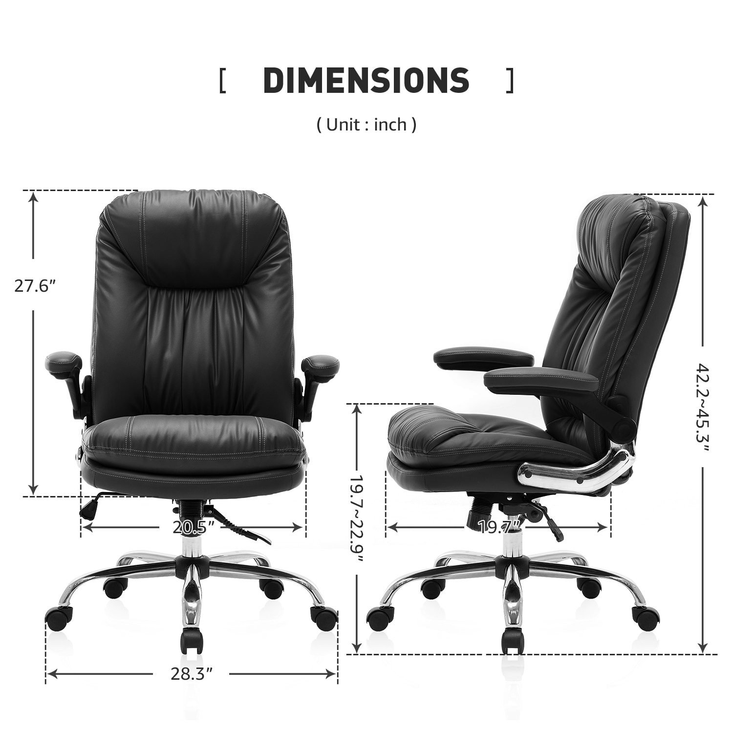 Hb4d8dca6615a4a418529ffc95916618dr - Yamasoro Ergonomic Office chair Faux PU Leather Chair Executive Computer Desk Chairs Managerial Executive Chairs