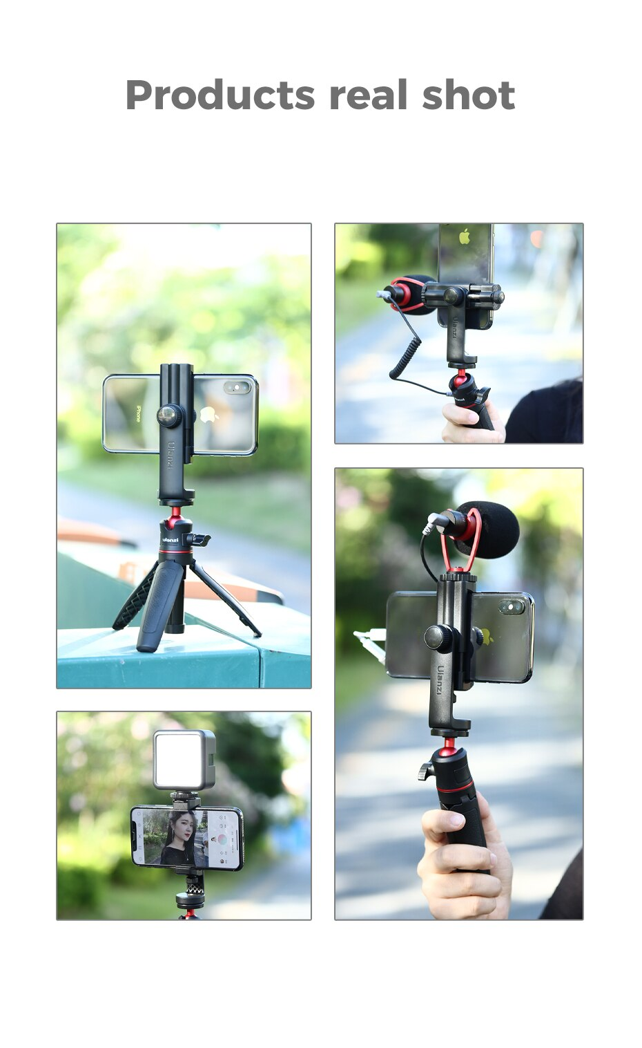 Hb4e2cc3dc0f1438098097c4c5e1bf5acq - Ulanzi ST-17 Universal Smartphone Clip Mount Holder Cold Shoe Vlog Tripod Mount Vertical Shooting for Huawei iPhone Android