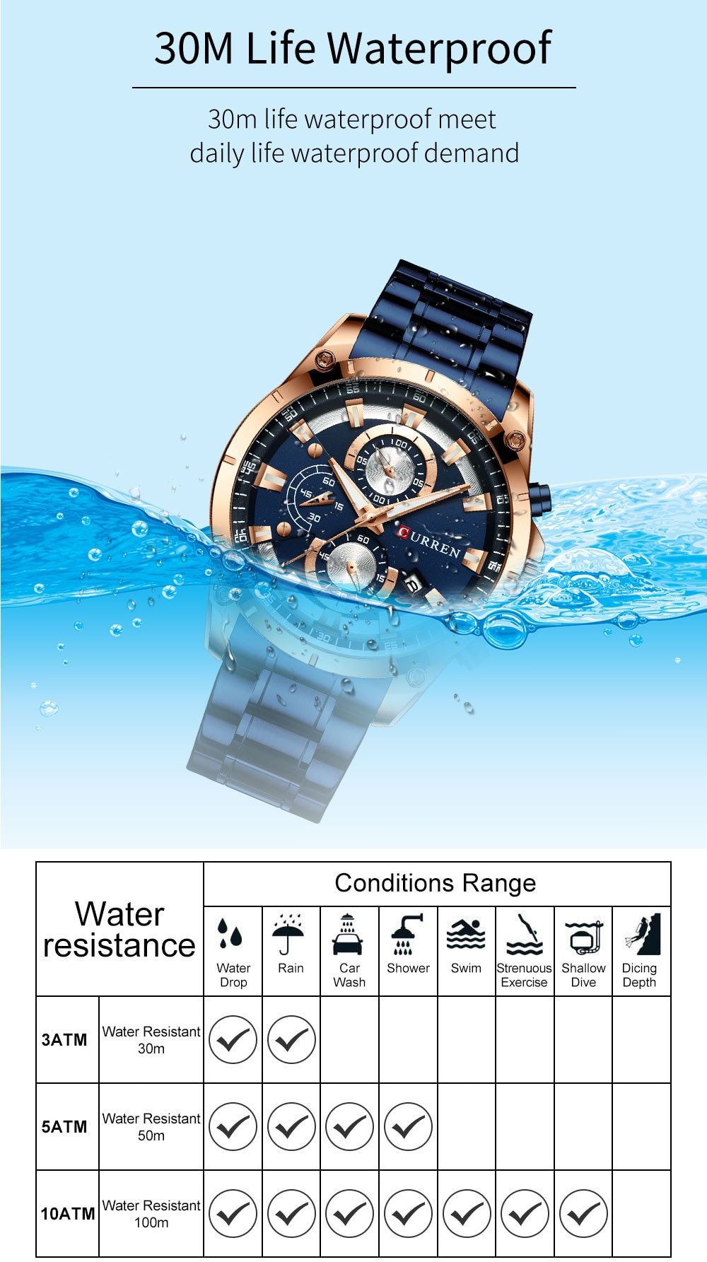 Hb582f69e5d8f486390f5bffabb46986eA - CURREN Top Brand Luxury Men Watches Sporty Stainless Steel Band Chronograph Quartz Wristwatch with Auto Date Relogio Masculino