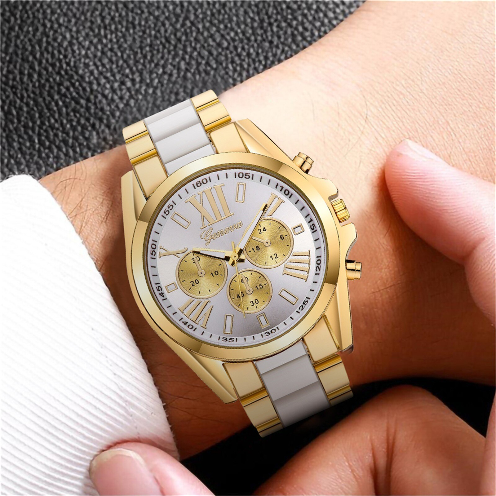 Hb63a404dd44e43b390863e94887f45ad6 - Fashion Luxury Watches for Men Casual Quartz Stainless Steel Band Diamonds Business Watch relogio masculino часы мужские#40