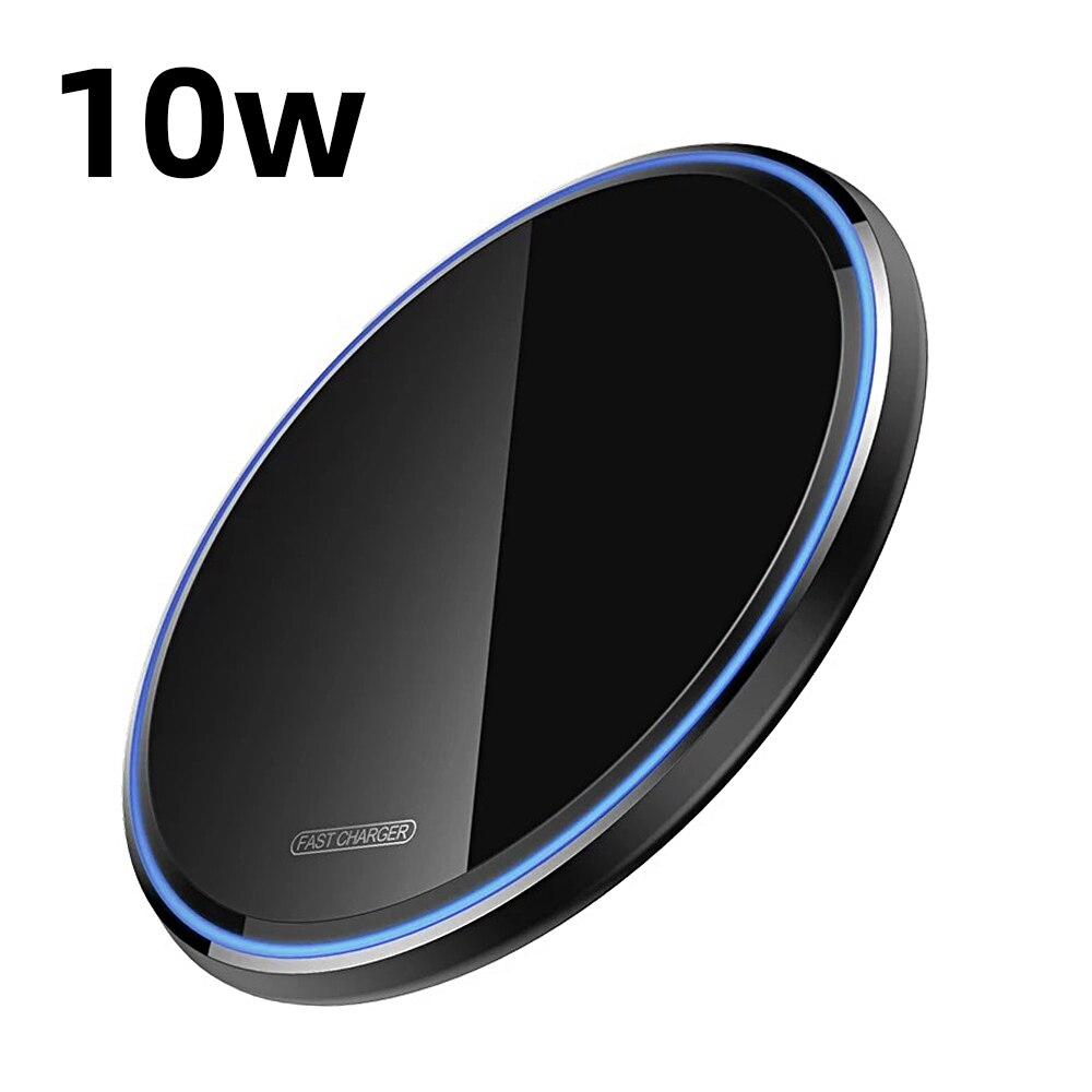 Hb6a1971b27d348f5aee189ae4ff943d9H - Wireless Phone Charger 10W 15W Ultra Thin Desktop Tabletop Battery Quick Charge Fast Charger for Smartphone Aluminum Alloy