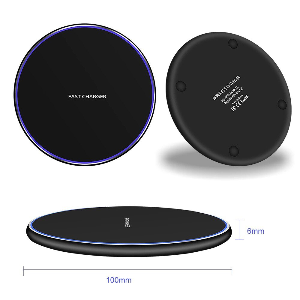 Hb74f871084184fd689dac10386875550r - SAMTIAN Wireless Mirror Charger Desktop Induction Charger 10W 15W Ultra Thin Fast Charger for Smartphone